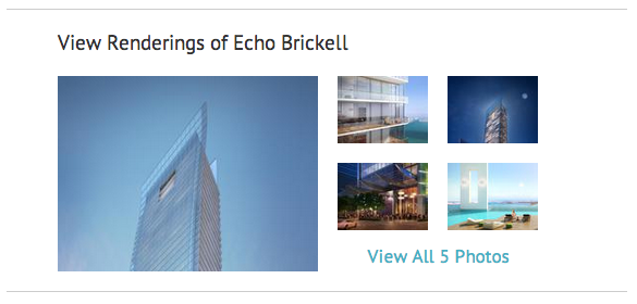 View Renderings of Echo Brickell