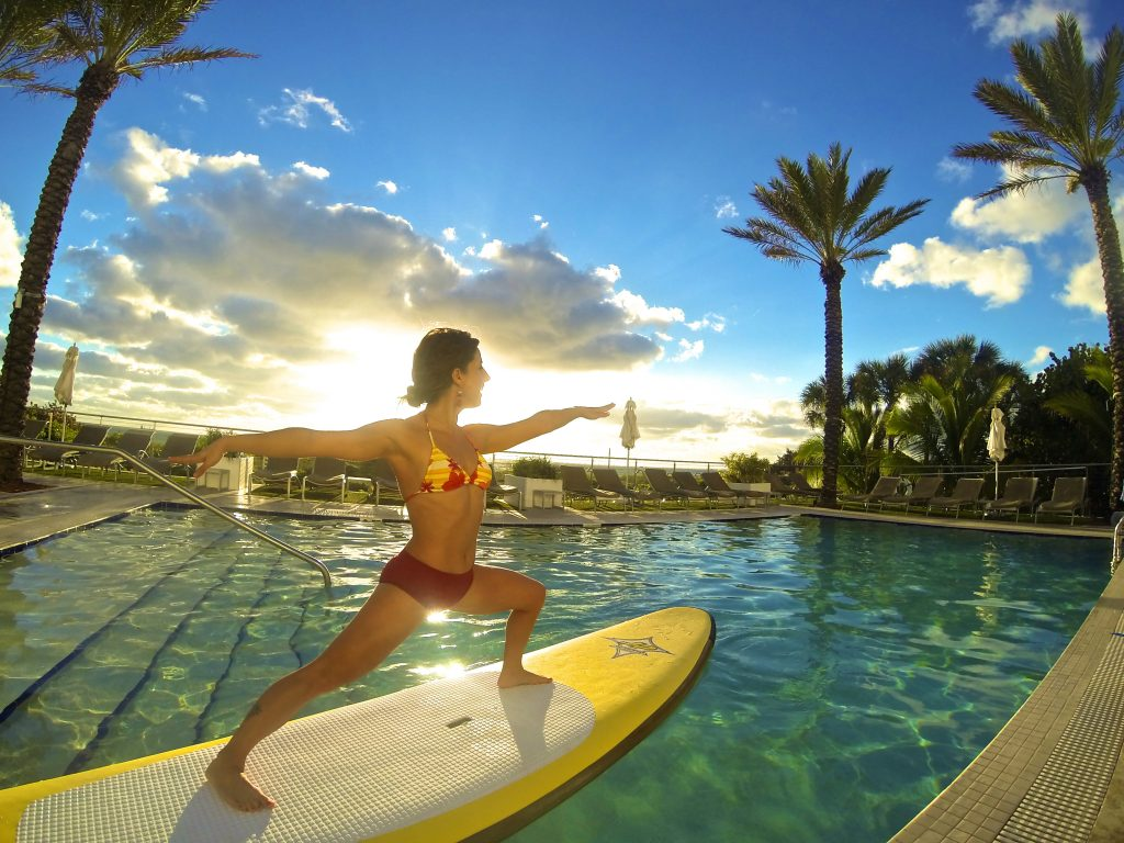 workout vacations - Stand-Up Paddleboarding at the Marriott Stanton South Beach