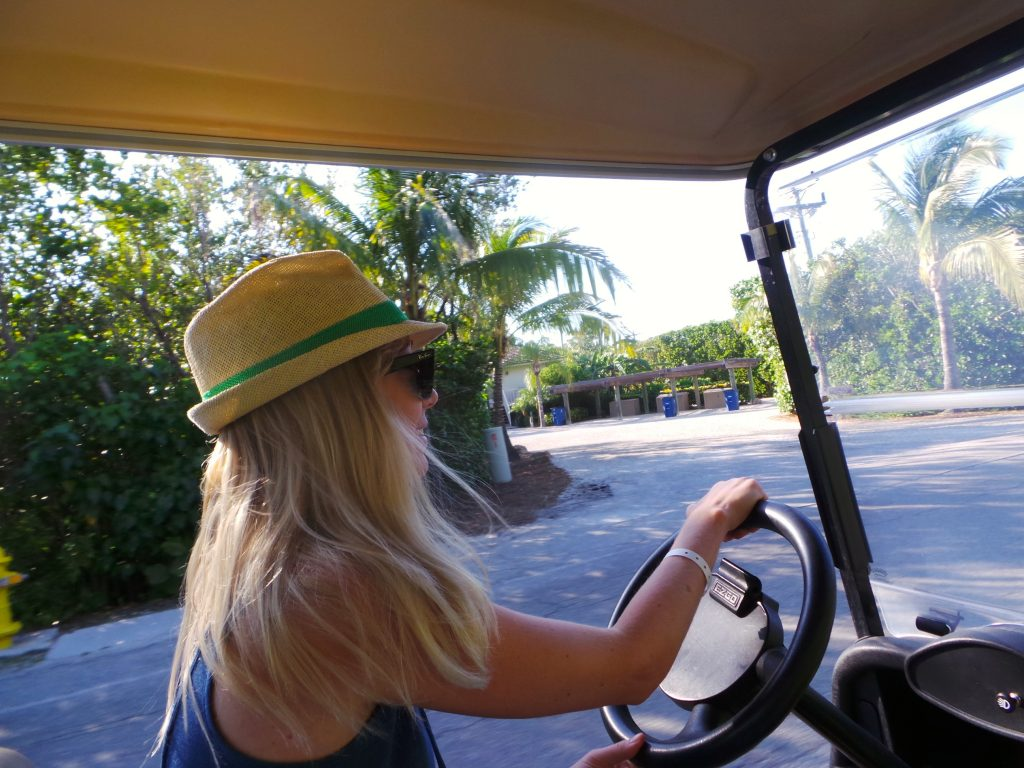 Kara Driving a Golf Cart