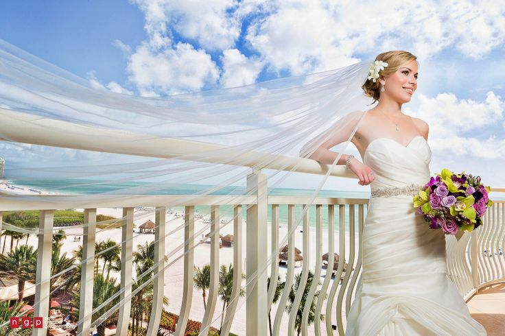 bride at destination wedding at Marco Island Beach resort