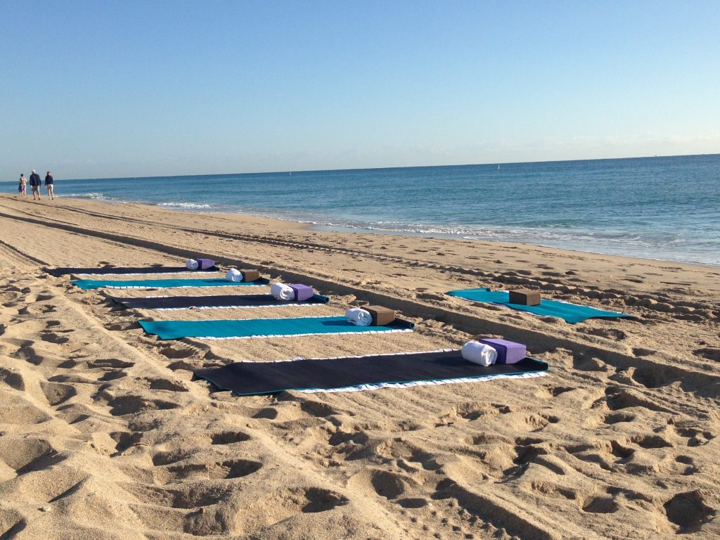 Yoga on the beach at W Fort Lauderdale