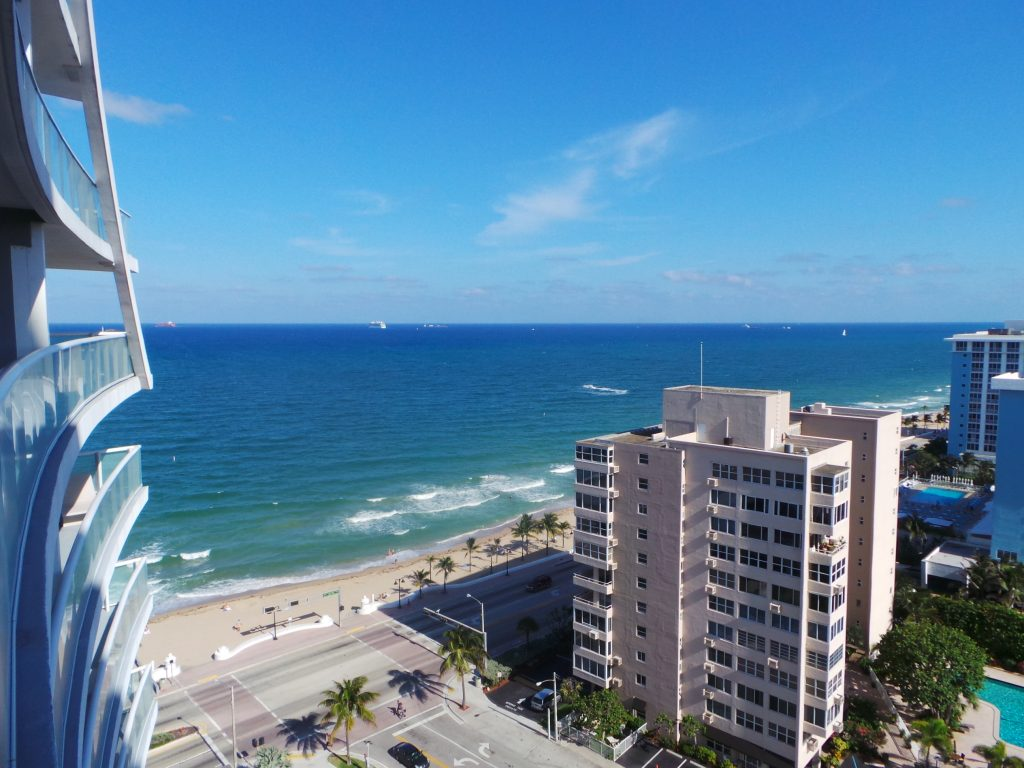 View of the beach at the W Fort Lauderdale.