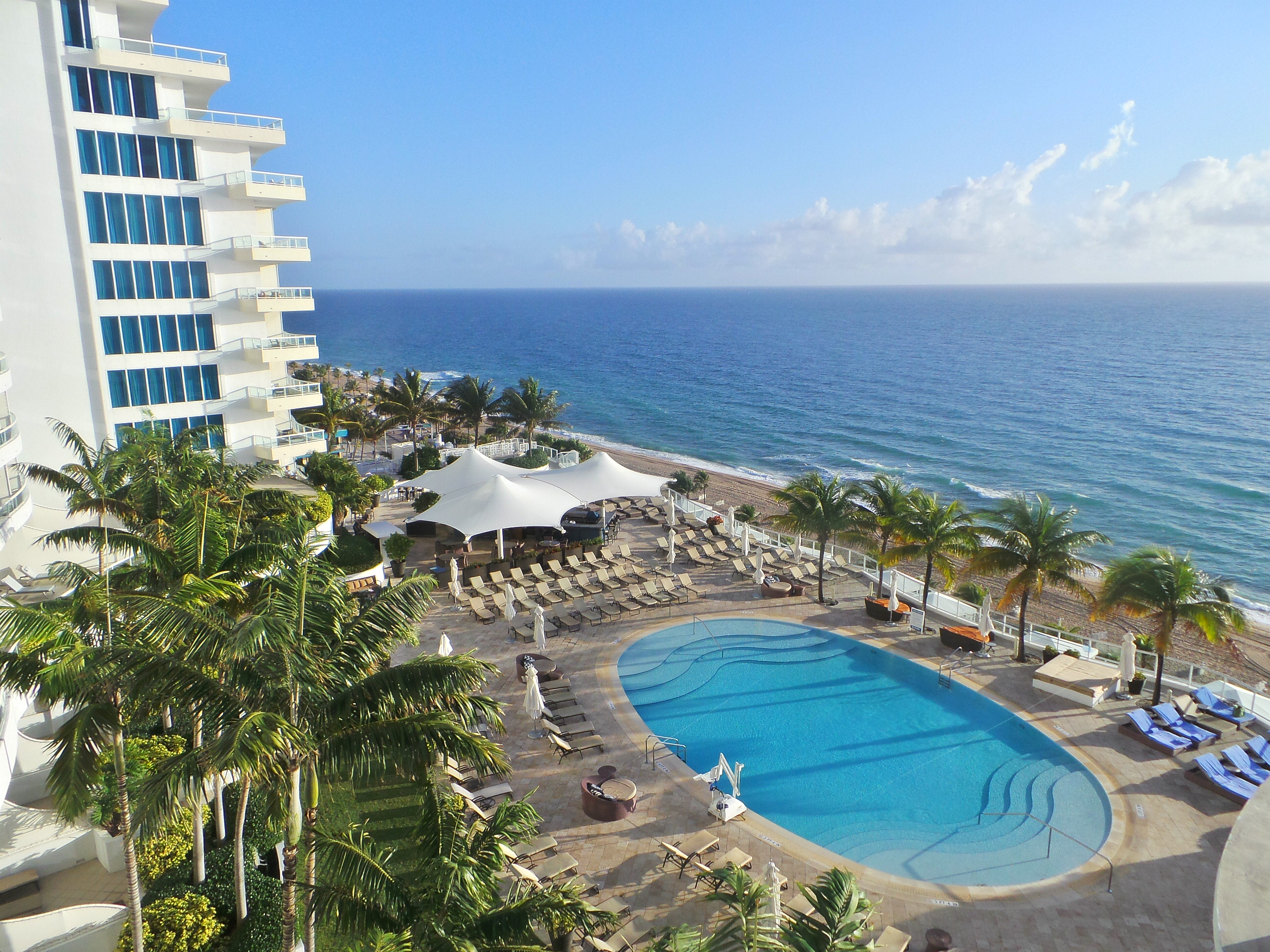 View of the pool at The Ritz-Carlton Fort Lauderdale.