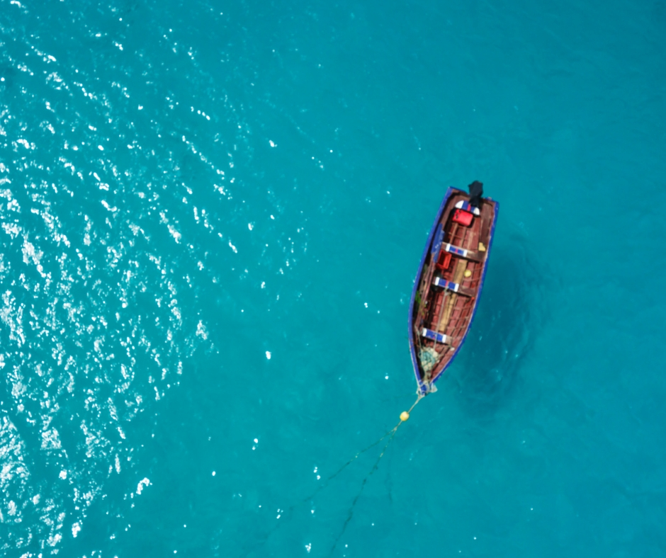 aerial-boat-blue-water