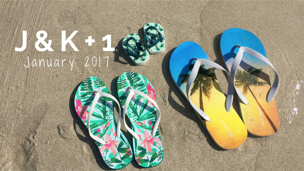 baby announcement flip flops on beach