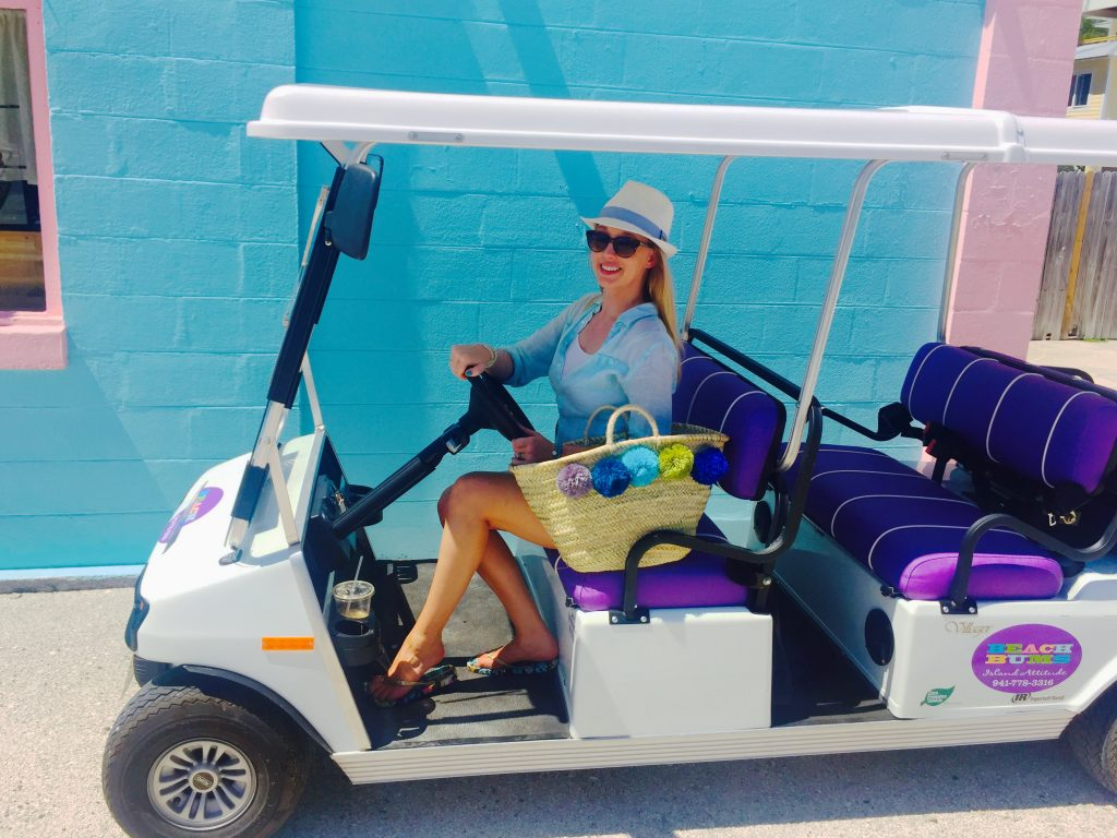 Kara Franker on a Golf Cart in Anna Maria Island