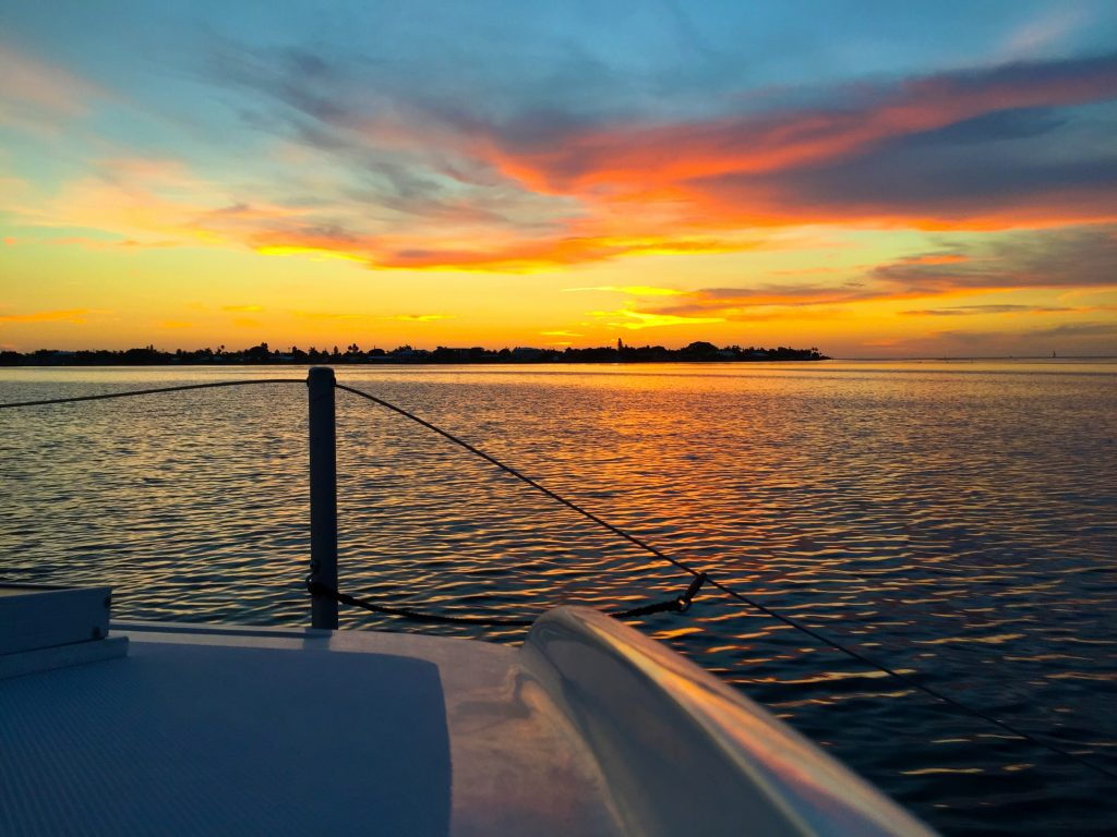 Sunset Catamaran Sail Anna Maria Island by Kara Franker