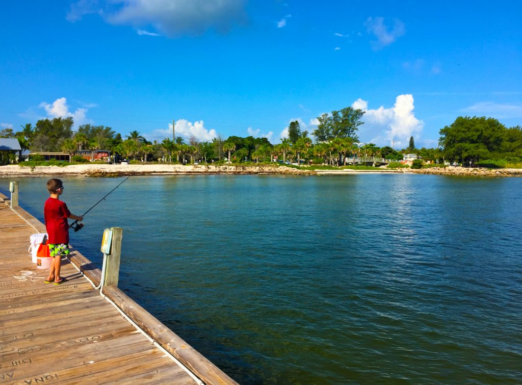 Fishing on the Anna Maria City Pier by Kara Franker