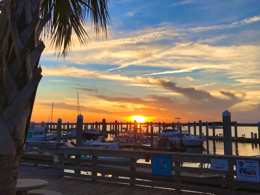 Downtown Fernandina Harbor Marina Sunset 2